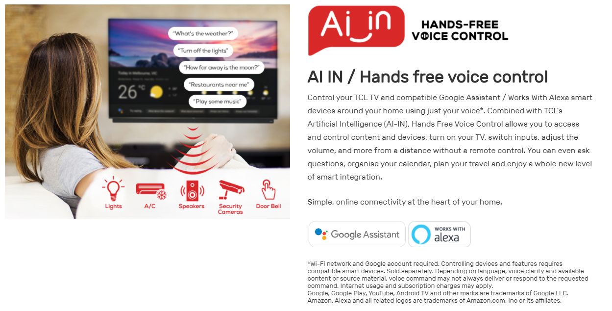 TCL Hands Free AI Control