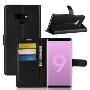 Black Leather Wallet Case for Samsung Galaxy Note 9