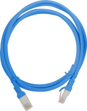 Top view of coiled ethernet cable.