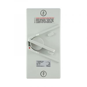 1 Pole Isolating switch 240v ac 20amp IP66