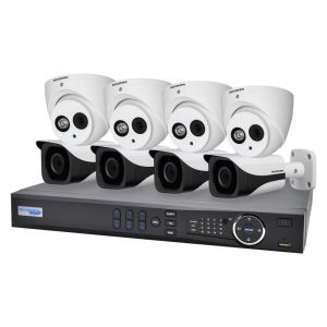 8 Channel 4.0MP HDCVI Surveillance Upgrade Kit (4 Domes, 4 Bullets)