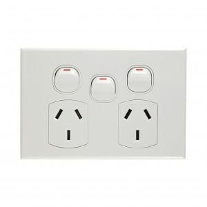 GEO Power Outlet Double 10A + Switch 10A
