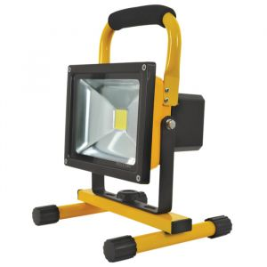Side angle view of the Portable Rechargeable 20W 5000K LED Flood Light