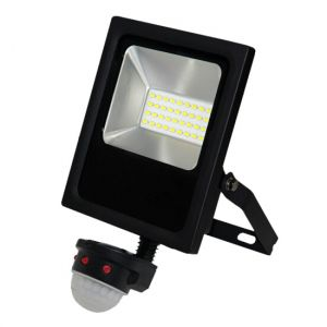 20W LED Sensored Floodlight Cool White (5000K)