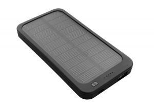 Image showing front of 4,000mAh Solar Rechargeable Power Bank with solar panel
