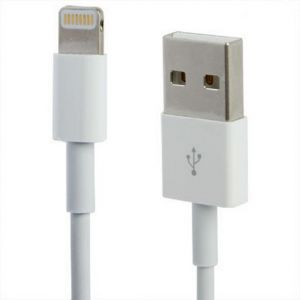 Image showing both ends of the Lightning Connector to USB Data & Charging Cable