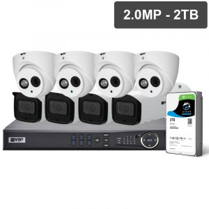 Pro Series 8 Camera 2.0MP IP Surveillance Kit (Fixed, 2TB)