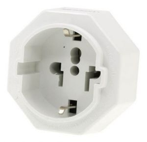 Front view of the Inbound Travel Aadaptor USA, Europe & Asia