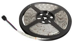 LED Strip Light RGB Variable Colour 10mm X 5 Metres (with controller and power cable)
