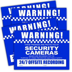 CCTV Warning Stickers 4-pack (A4)