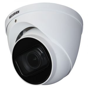 Side angle view of the motorised dome camera.