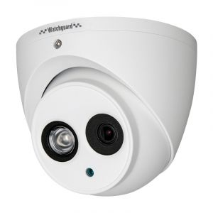 Front view of fixed mini dome camera.