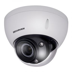 Side angle view of Motorised dome camera.