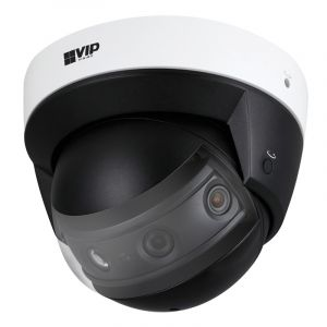 Side angle view of the 8MP panorama dome camera.