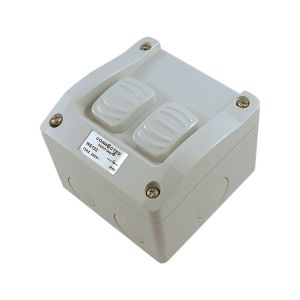 2 Gang Weatherprotected Surface Switch 15a 250v
